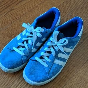 Adidas campus blue sneakers